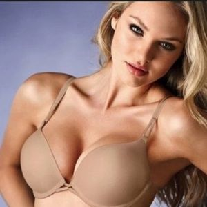Victoria's Secret Bombshell Push Up Bra 38D Beige